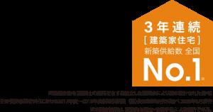 3年連続 建築家住宅 新築供給数全国No.1